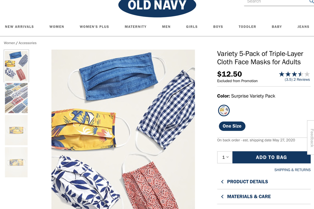 Coronavirus Old Navy Releases Face Masks For Adults Kids Amid Covid 19 Outbreak Deseret News
