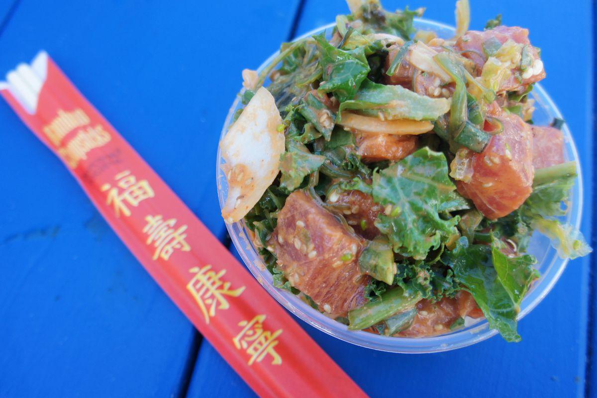 Spicy Tuna Bowl at Poke Poke