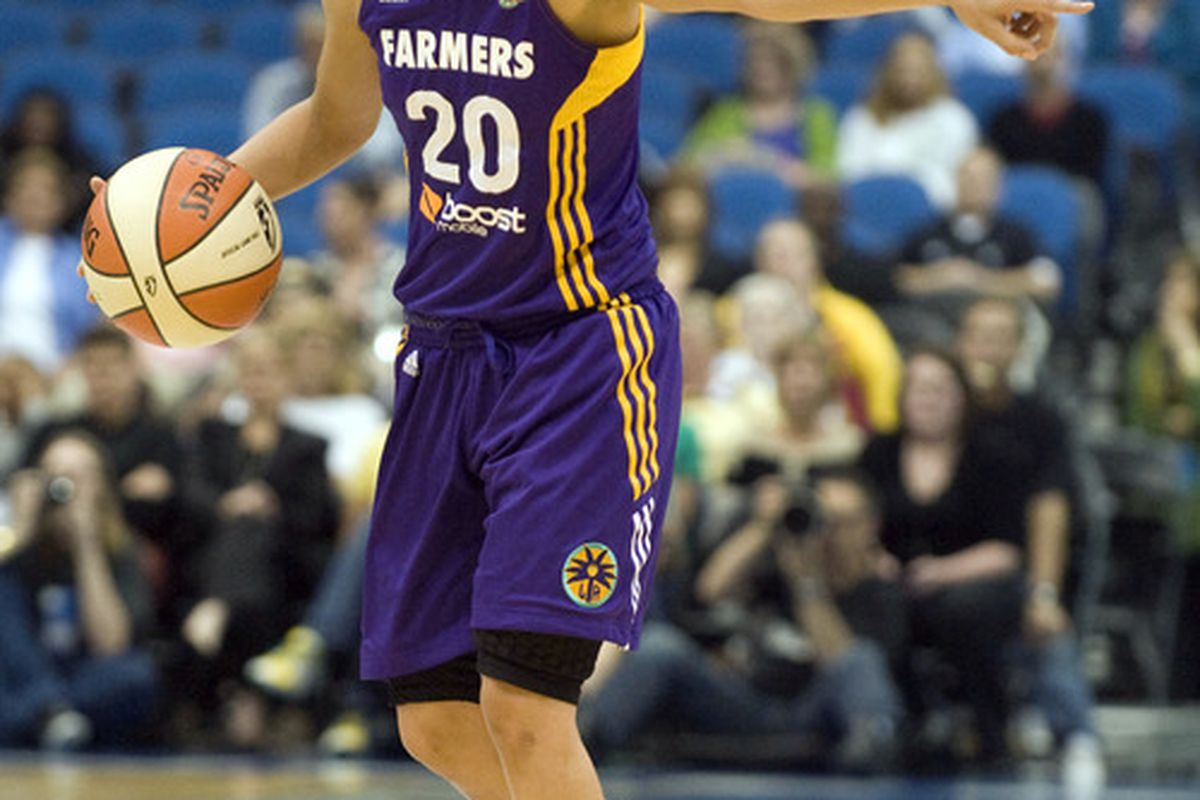 Los Angeles Sparks guard Kristi Toliver is off to a good start this season, but - despite her heroics - Tuesday night's game showed that she probably needs a backup. <em>Photo by Marilyn Indahl-US PRESSWIRE.</em>