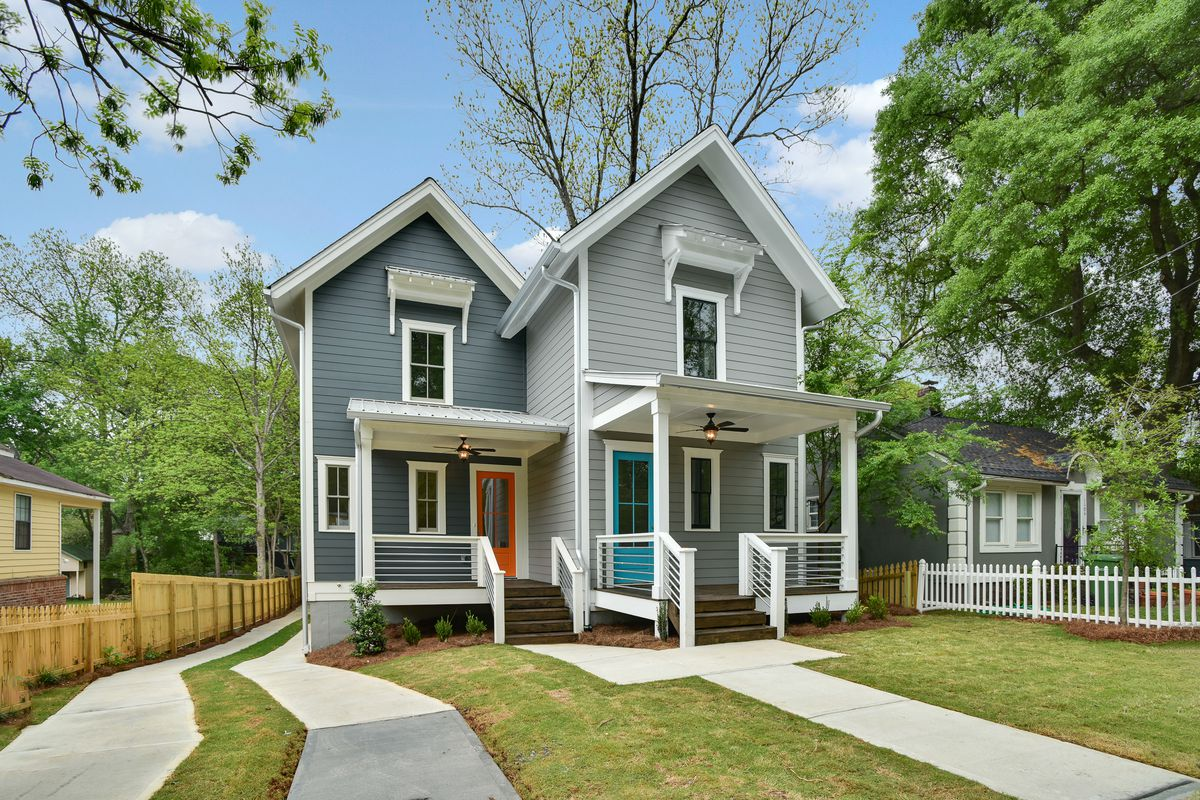 Reynoldstown s latest modern farmhouse goes duplex for for 2 story modern farmhouse