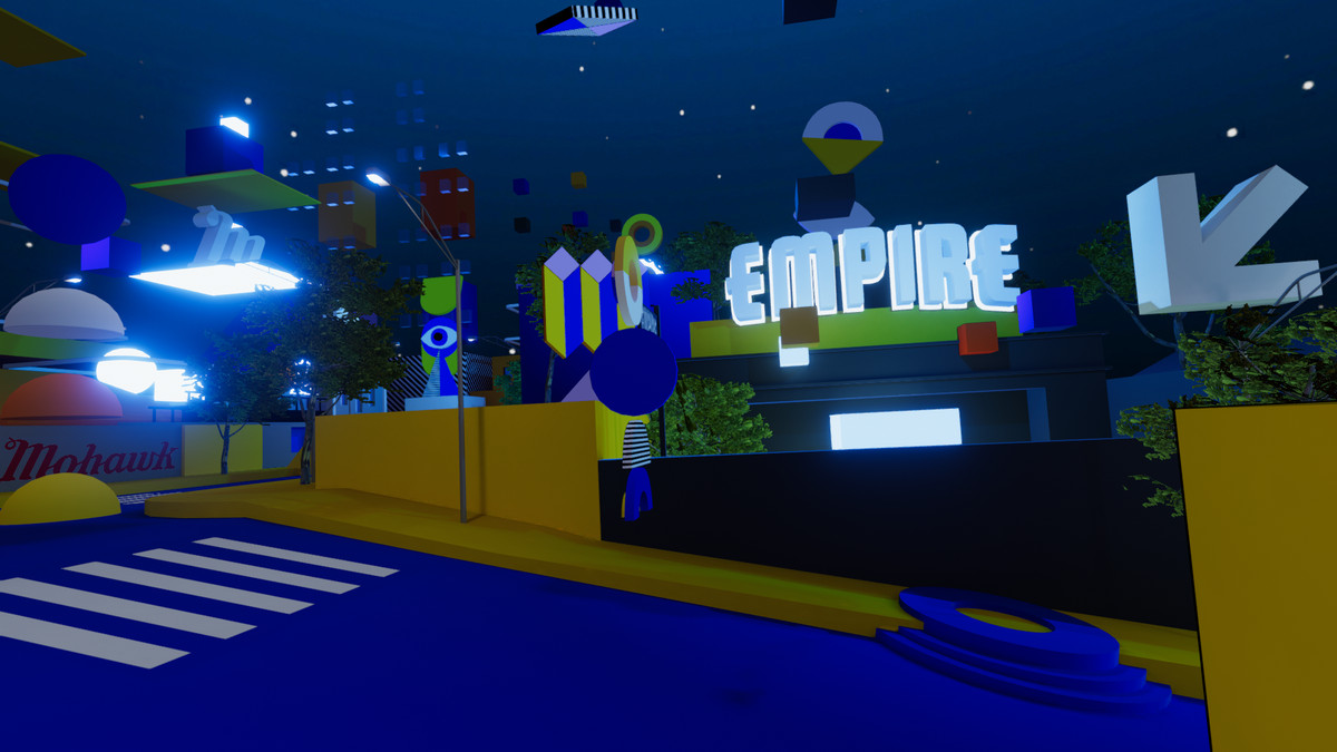 The virtual reality recreation of East Seventh venue Empire Control Room