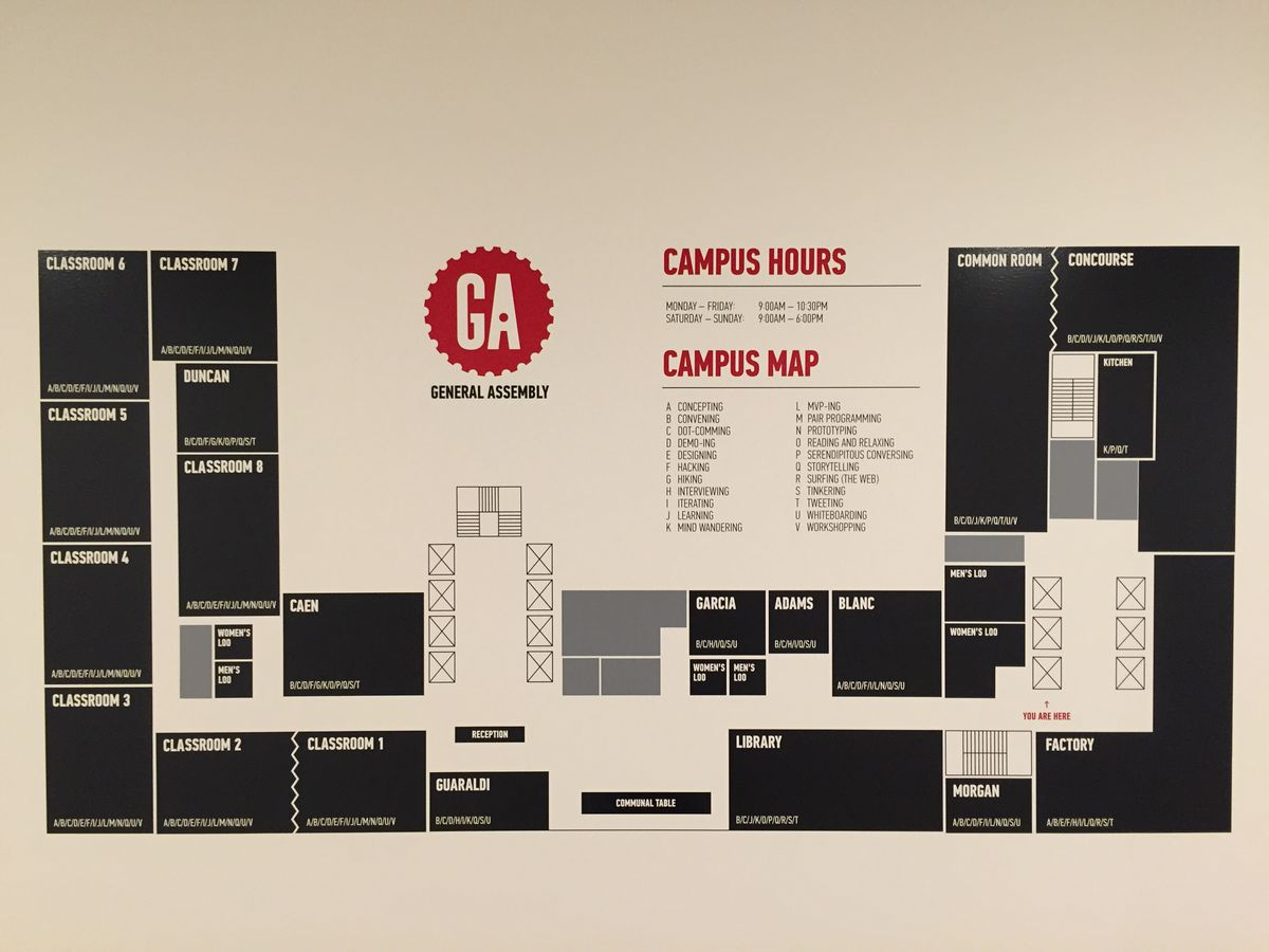The campus map