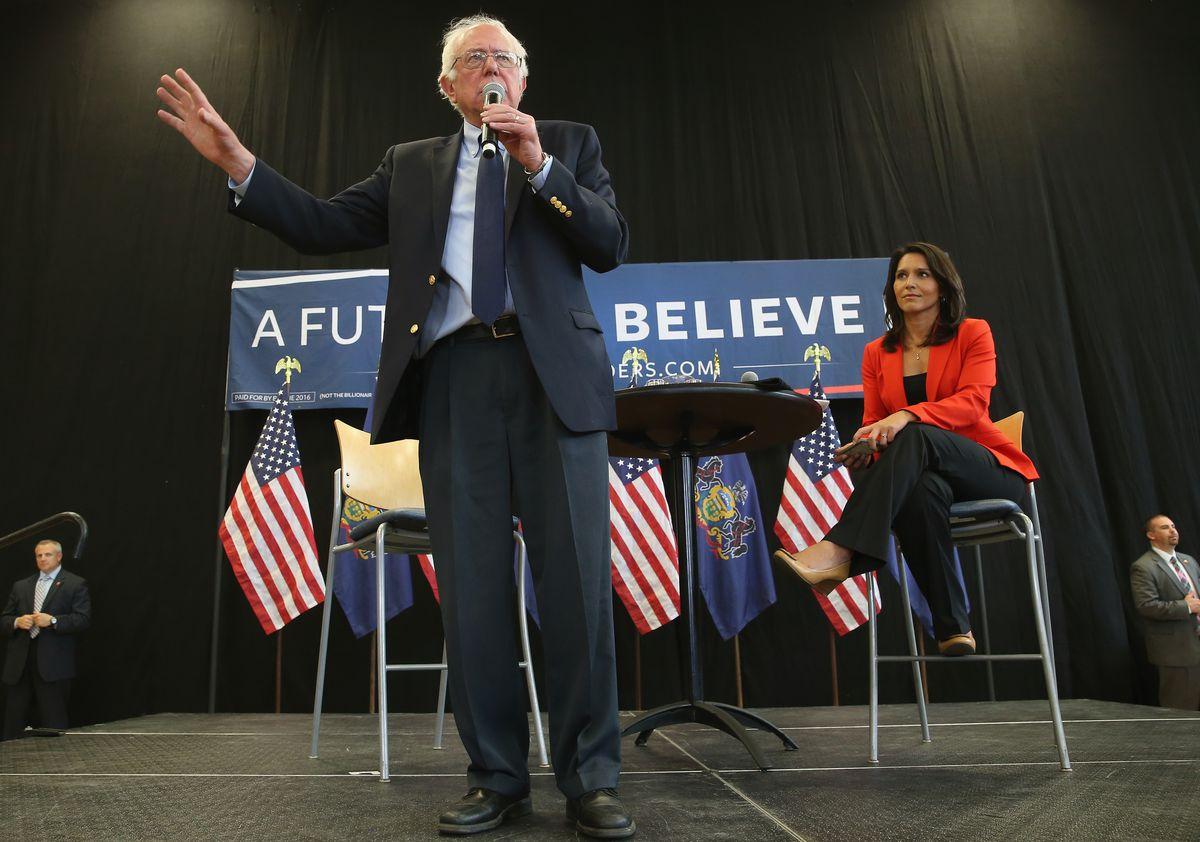 Gabbard and Bernie Sanders.