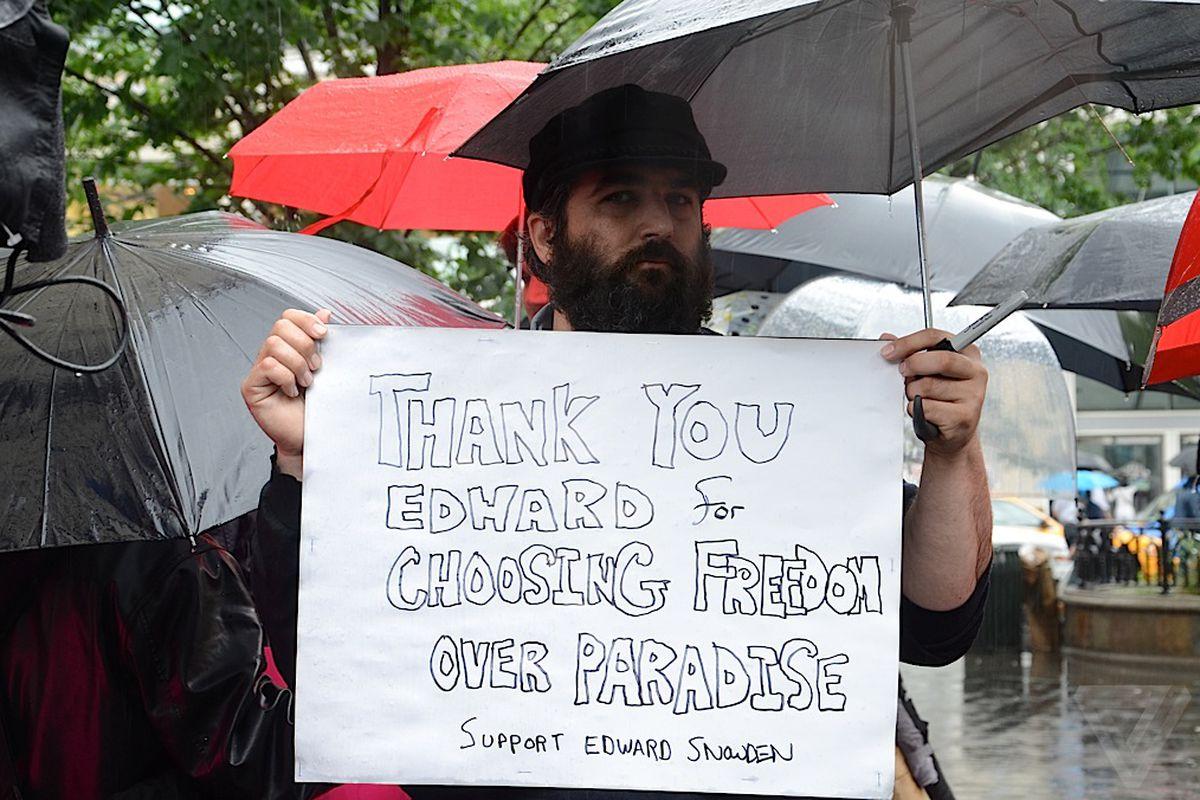 Edward Snowden rally