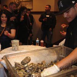 Oysters at Lüke San Antonio.