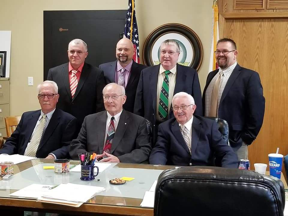 McLeansboro Ald. Dale E. Biggerstaff, back row right, with other members of the city council.