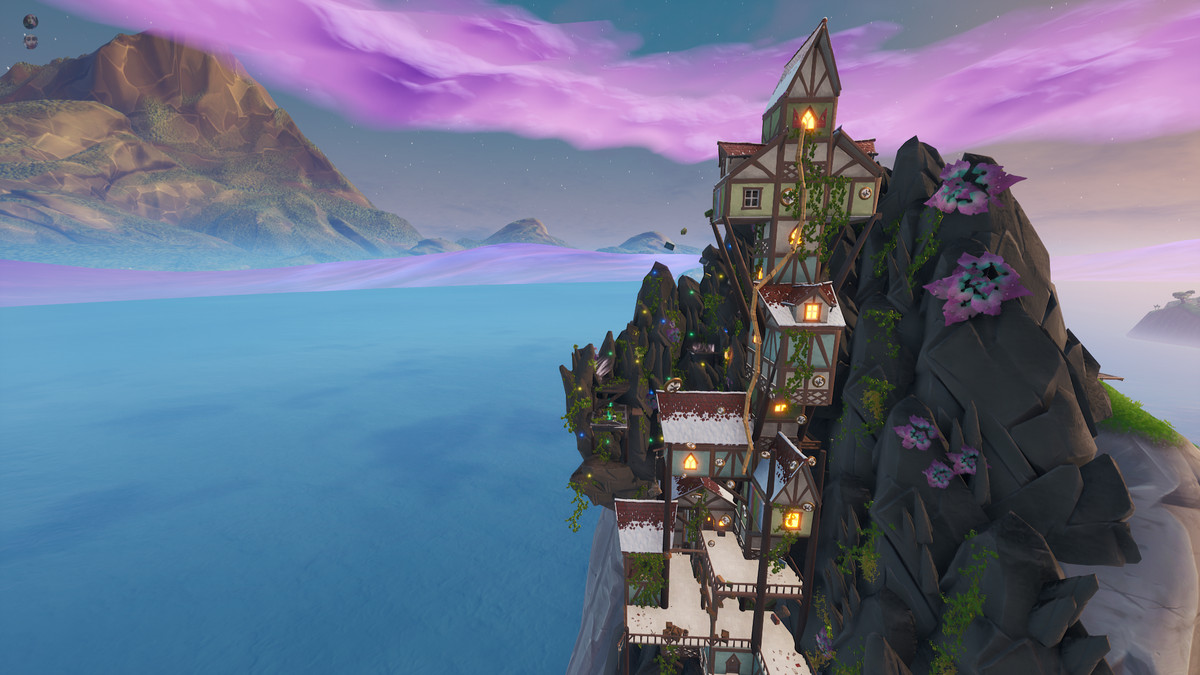 a Fortnite map inspired by Rapunzel's tower
