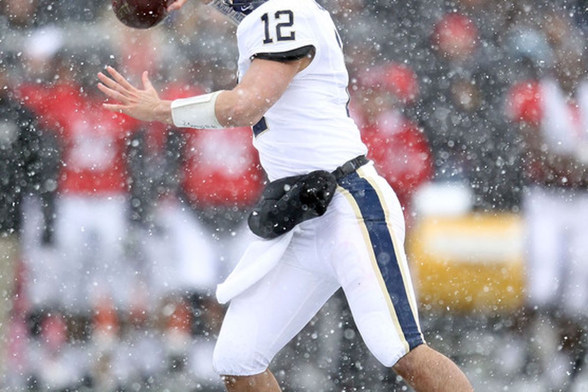 Pitt fans will need to see more out of Tino Sunseri or the calls to replace him with freshman Chad Voytik will grow louder and louder.  (Photo by Andy Lyons/Getty Images)