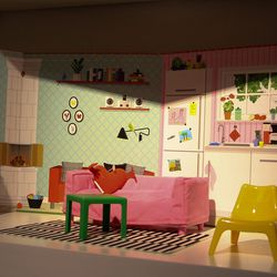 Talk about tiny furniture. IKEA would dominate in the dollhouse industry.