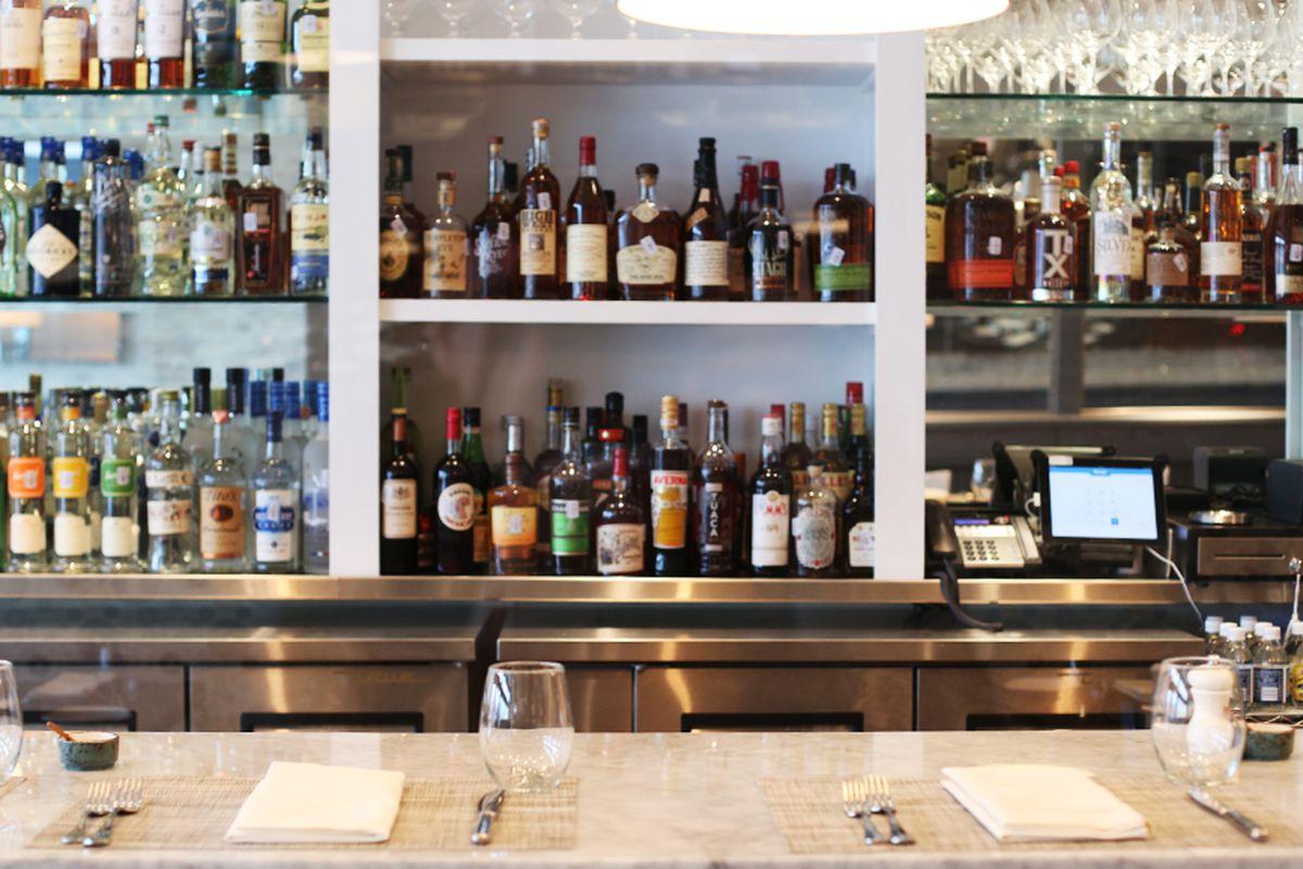 The bar at Gemma.