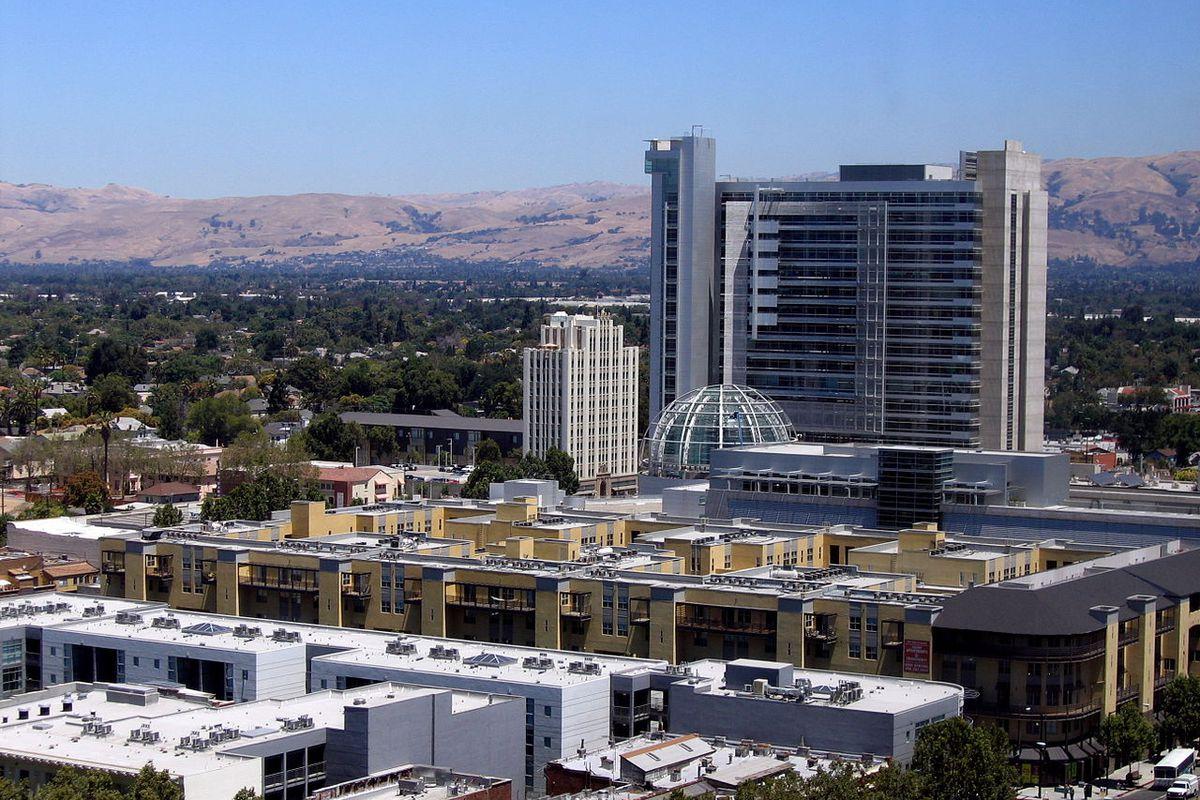 Aerial photo of downtown San Jose.