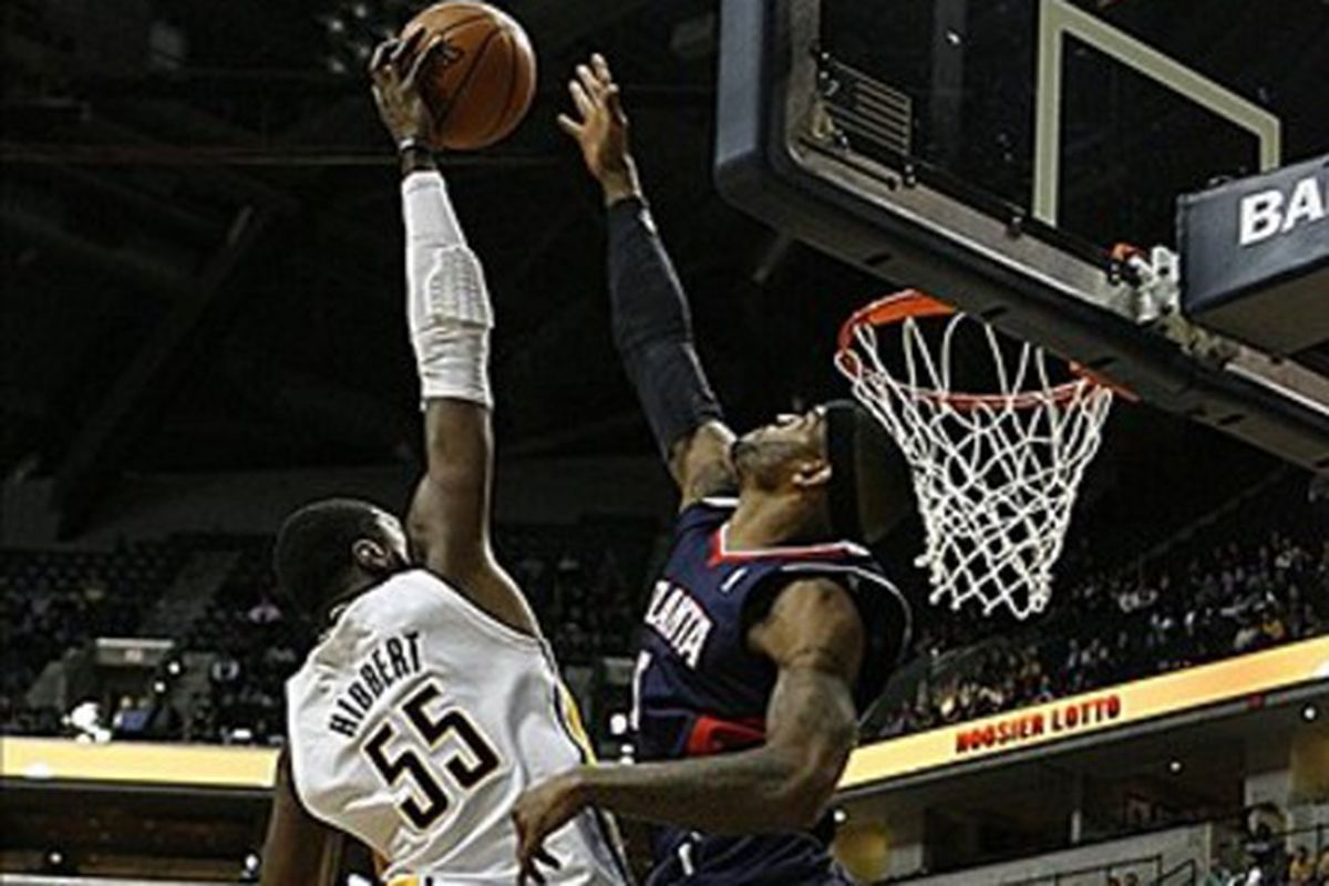 Josh Smith led the Hawks with 27 points against the Pacers on this date in 2011.