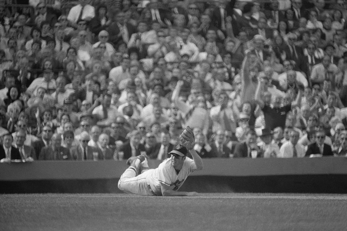 Brooks Robinson Making Diving Catch