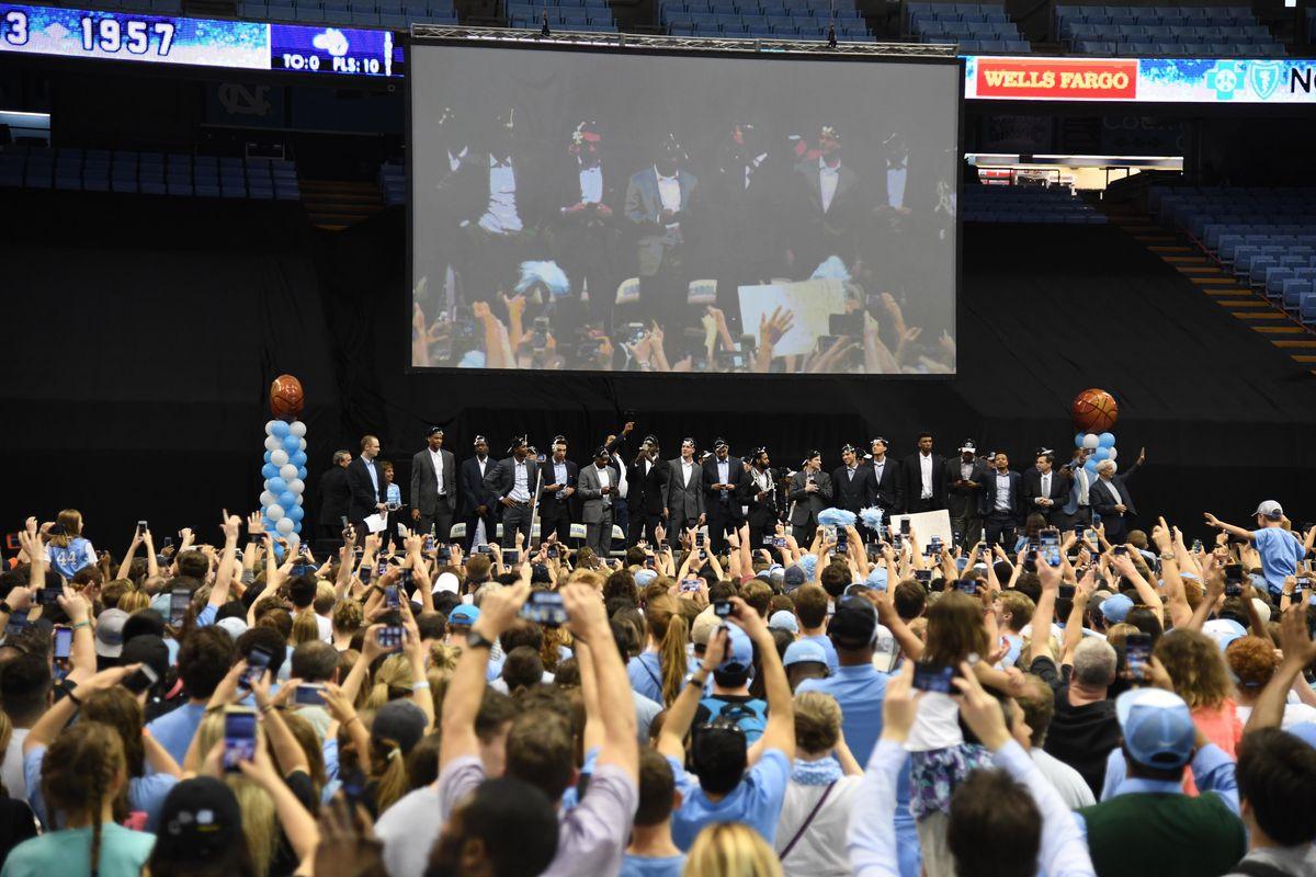 NCAA Basketball: Final Four Champions-North Carolina Celebration