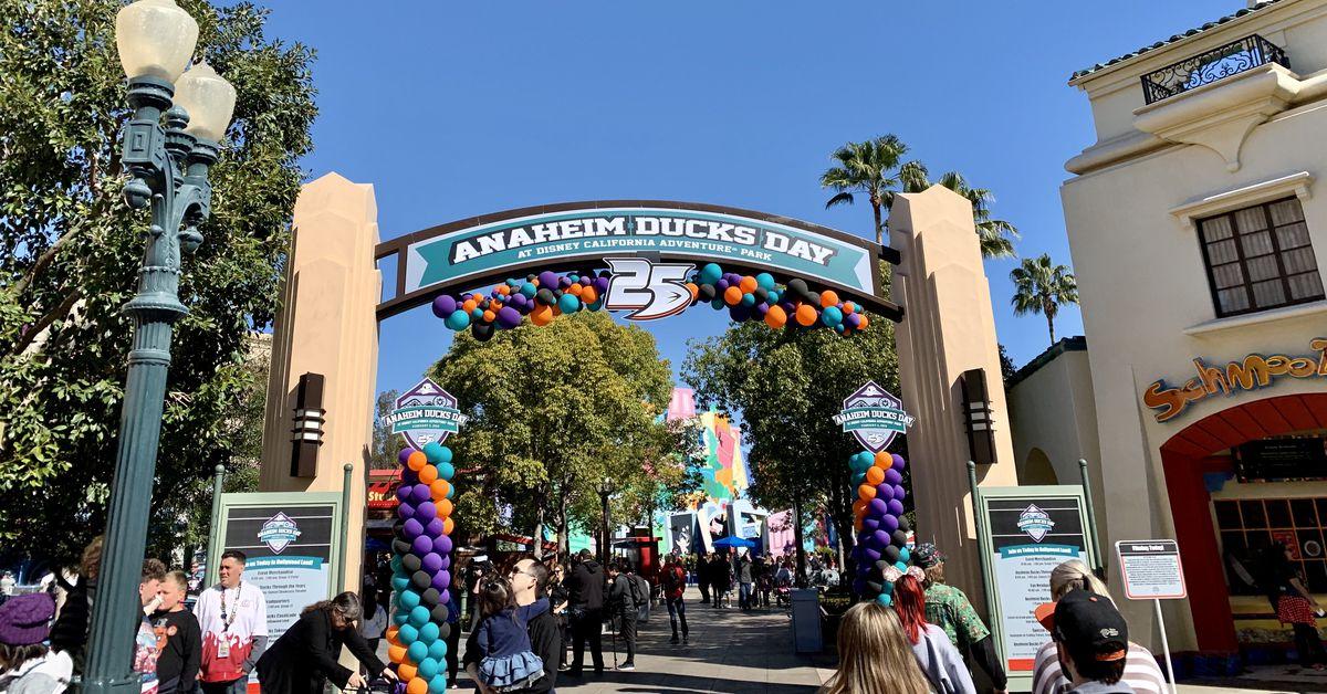 Anaheim Ducks Day At Disneyland California Adventure Park Returns