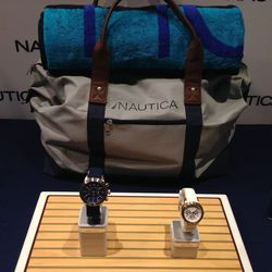 Nautica is hosting travel essentials like duffle bags and timepieces.