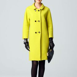 """<b>Milly</b> Alexis Coat in chartreuse, <a href=""""http://www.millyny.com/Shop/All-Outerwear/Coats/ALEXIS-COAT-3089.html?source=shopstyle"""">$437.50</a>"""