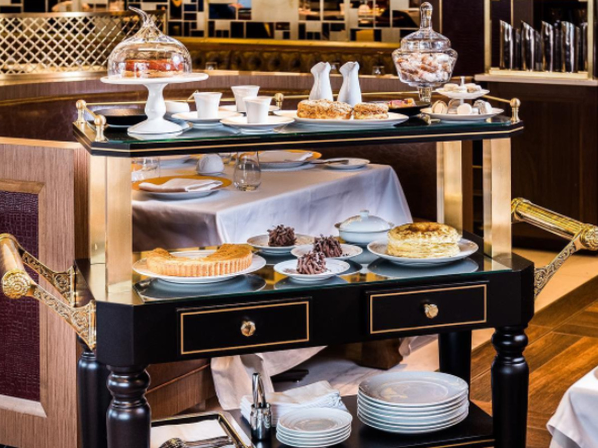 Aggie Chin's custom-made pastry cart at Mirabelle.