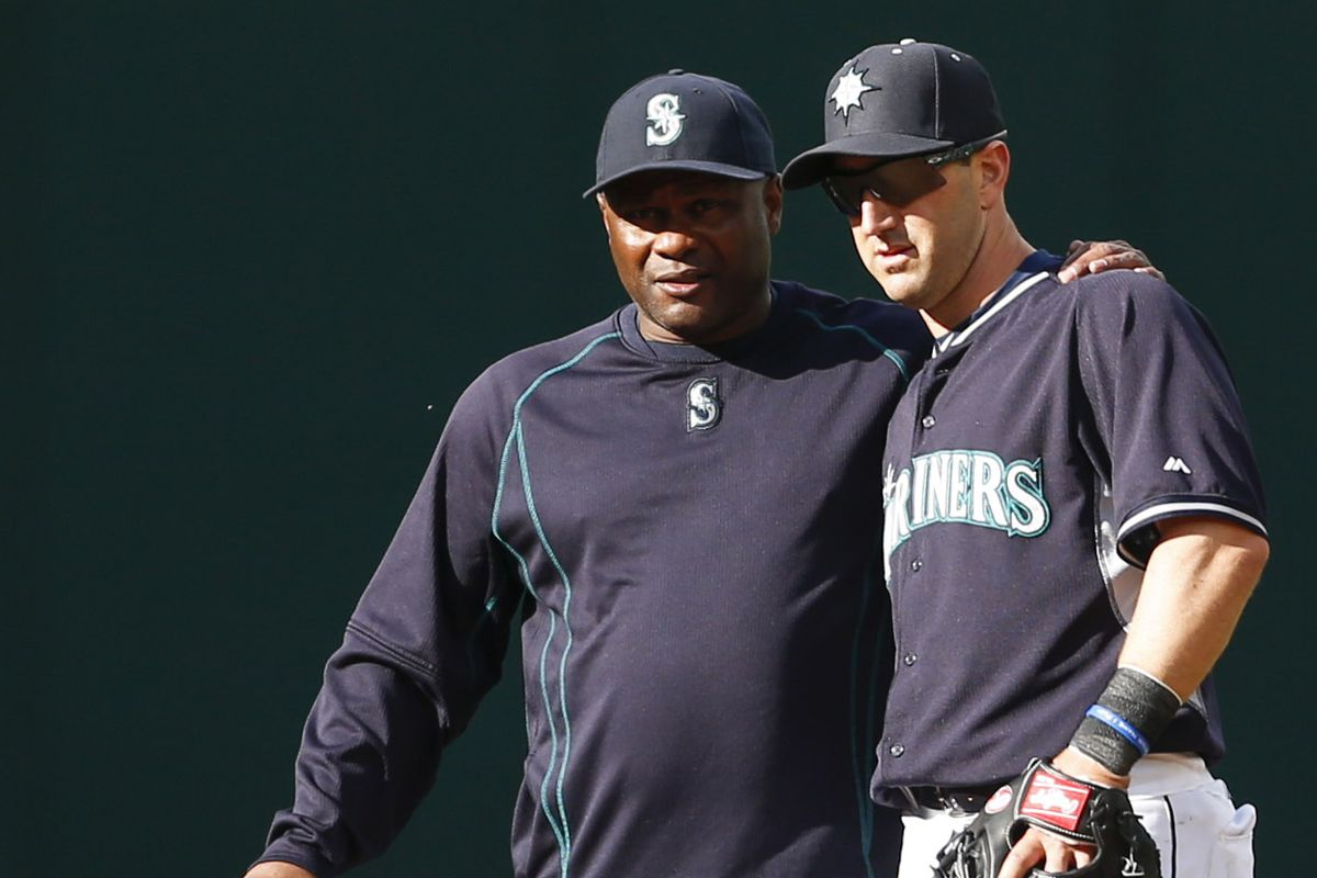Former and future Mariner managers, together