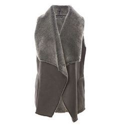 """<strong>Velvet</strong> Sherpa Vest, <a href=""""http://www.scoopnyc.com/sherpa-vest-375000.html"""">$190</a> at Scoop NYC"""