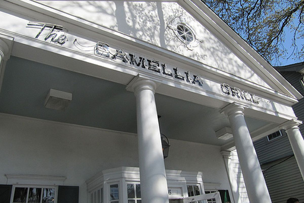 Exterior of Camellia Grill uptown.