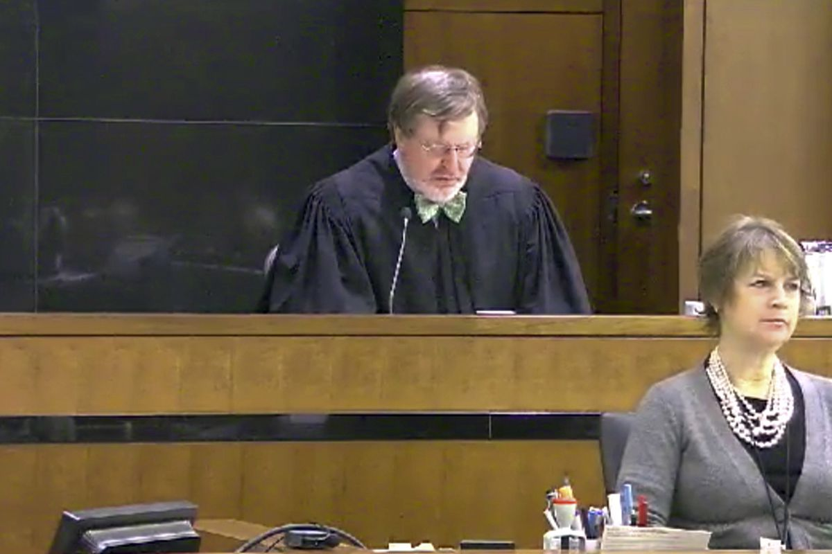 Judge James Robart listening to a case at Seattle Courthouse on March 12, 2013. Robart placed a nationwide hold on President Trump's executive order banning travel to the United States by migrants from seven Muslim-majority countries.