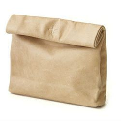 """The leather version of a brown paper bag, it's the epitomie of understated chic. Marie Turnor The Snak <a href=""""http://shop.marieturnor.com/collections/frontpage/products/the-snak"""">small leather bag</a>, $117."""