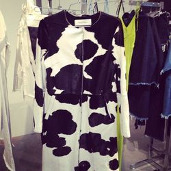 Marques' Almeida's cow print coat is the ultimate statement outerwear piece.