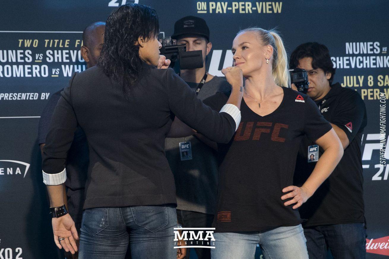 UFC 213 media day staredowns