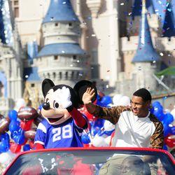 Day after Super Bowl trip to Disneyworld.
