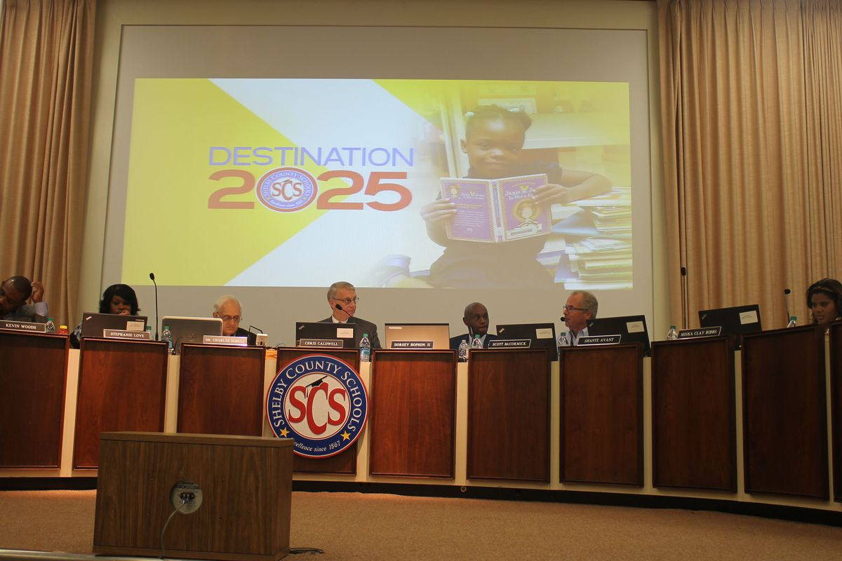 The Shelby County Board of Education reviews the Memphis district's Destination 2025 goals.