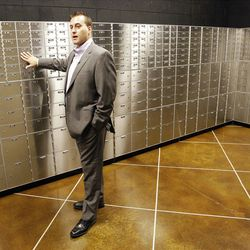 Safe Haven Private Vaults owner Nathan Coccimiglio talks about the facility in Sandy  Wednesday, Oct. 24, 2012.
