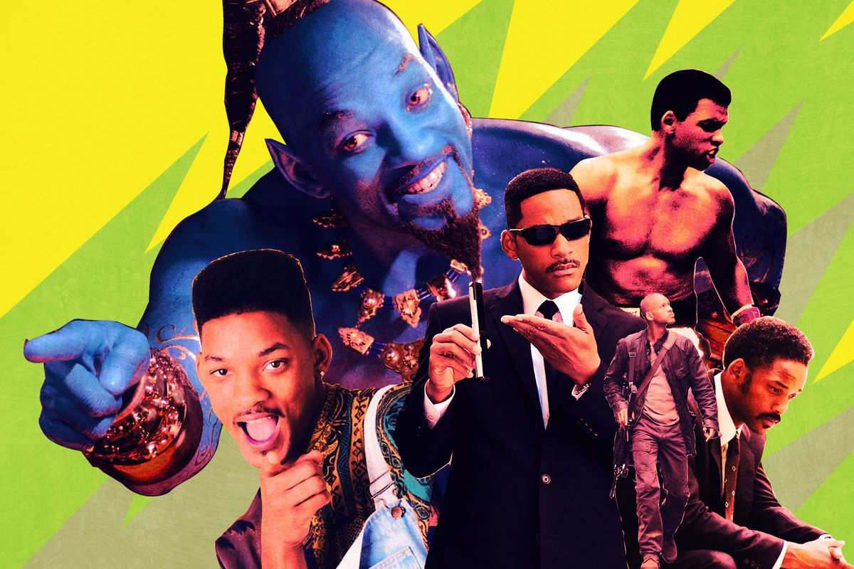A collage of different Will Smith characters