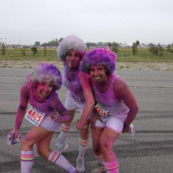 Some participants started in white wigs, as well as white clothing.