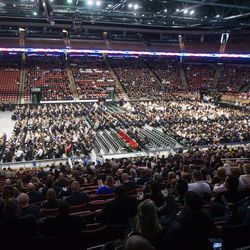 Funeral services for Unified police officer Doug Barney at the Maverik Center in West Valley City on Monday, Jan. 25, 2016.