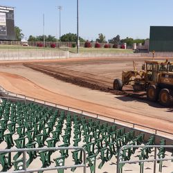 More seat stanchions, looking toward left field
