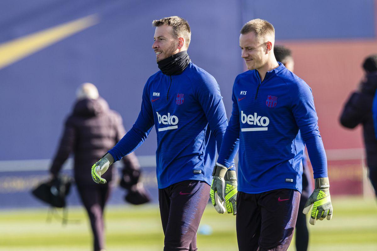FC Barcelona Training Session With New Coach Quique Setien