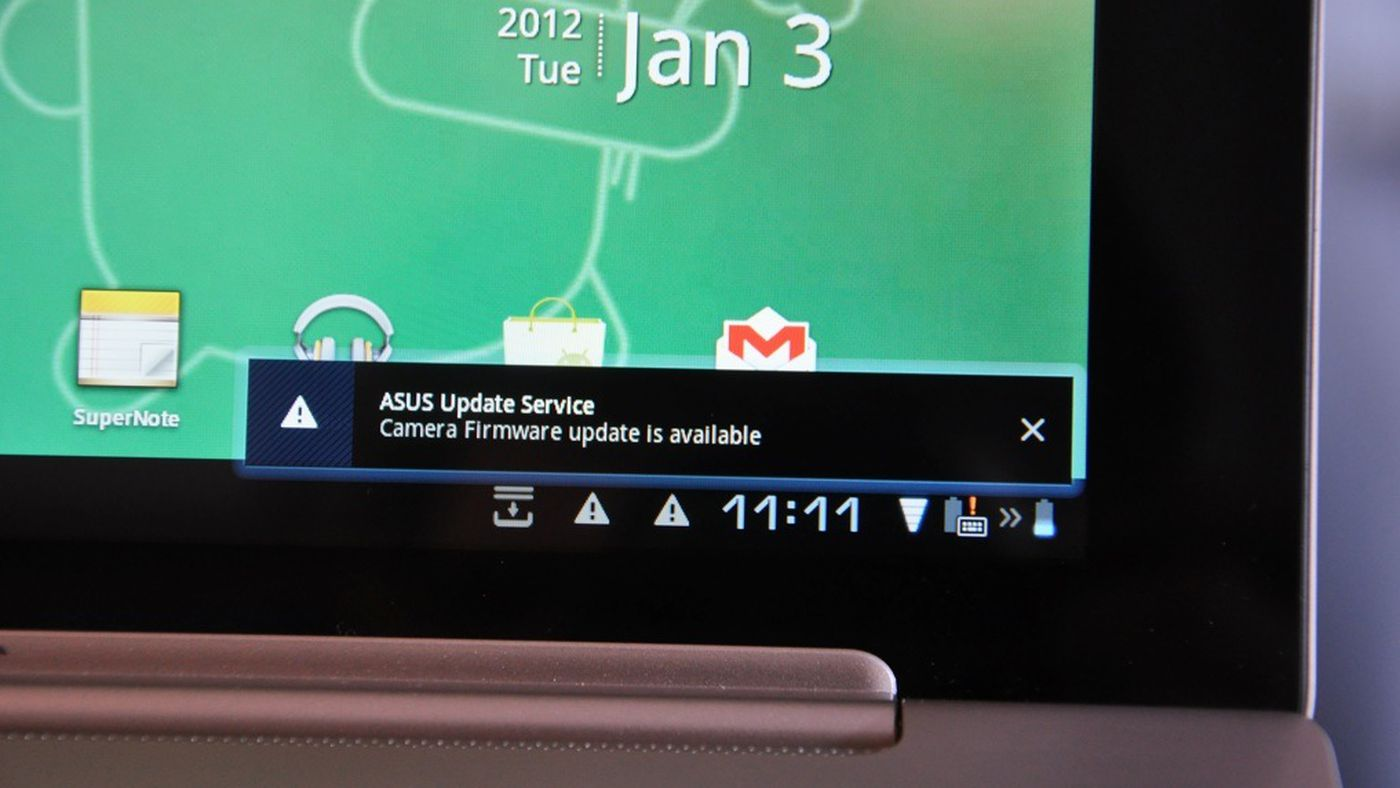 Asus pushes out another transformer prime firmware update to fix.