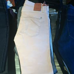 James Twiggy jeans in pink champagne, $80