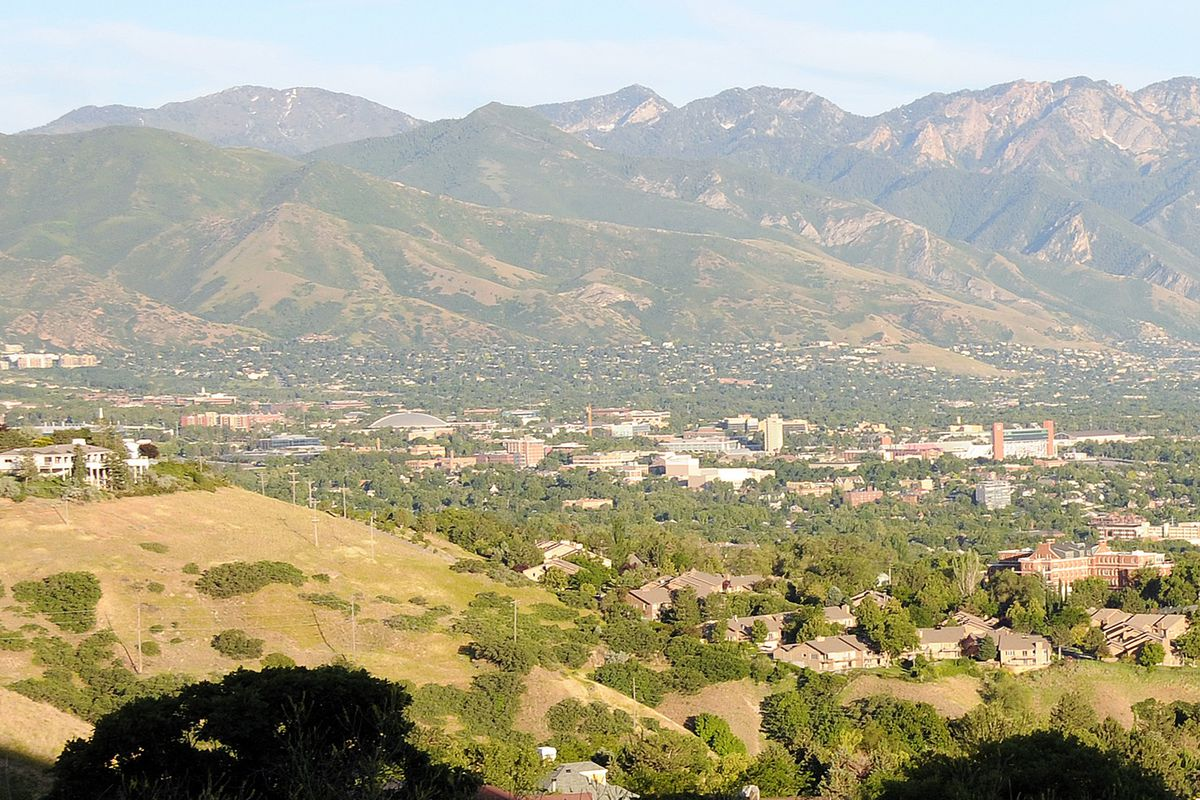 Distant view of the University of Utah. David O. McKay graduated from the university in 1897.