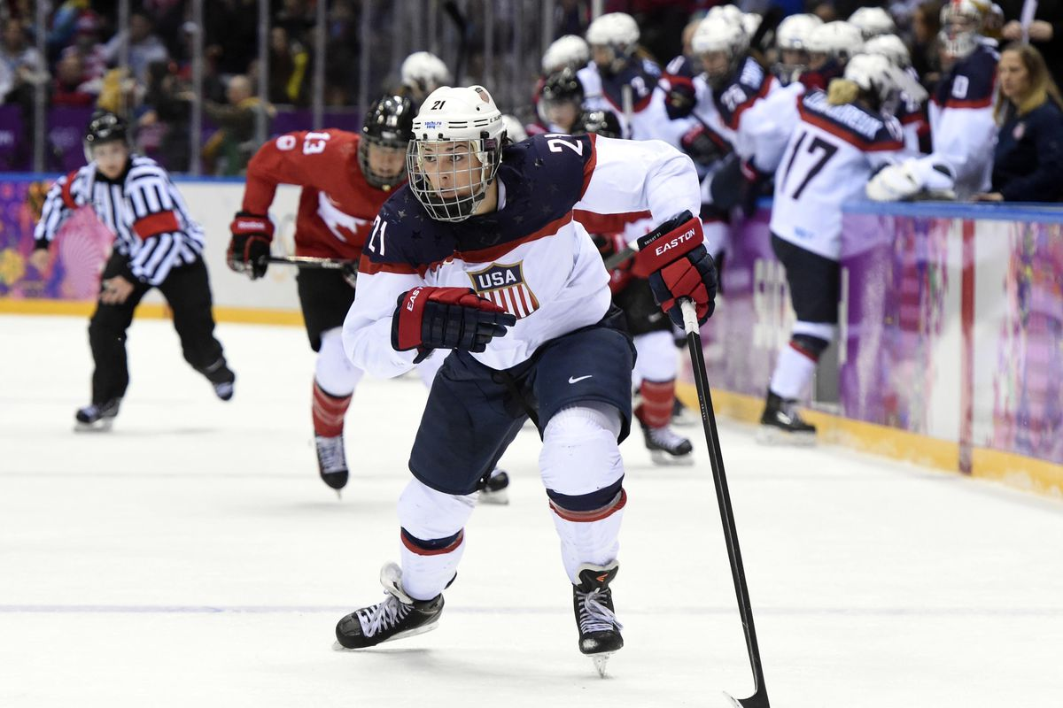 Hilary Knight is one of several Women's Hockey Players who are currently in limbo.