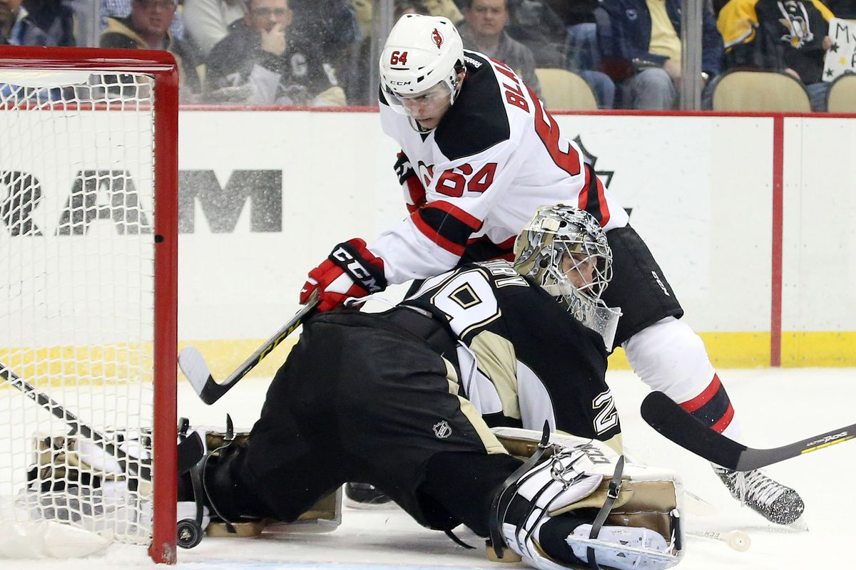 The Devils were close to scoring early.  Then they didn't get close for most of the remaining 45 minutes of the game.