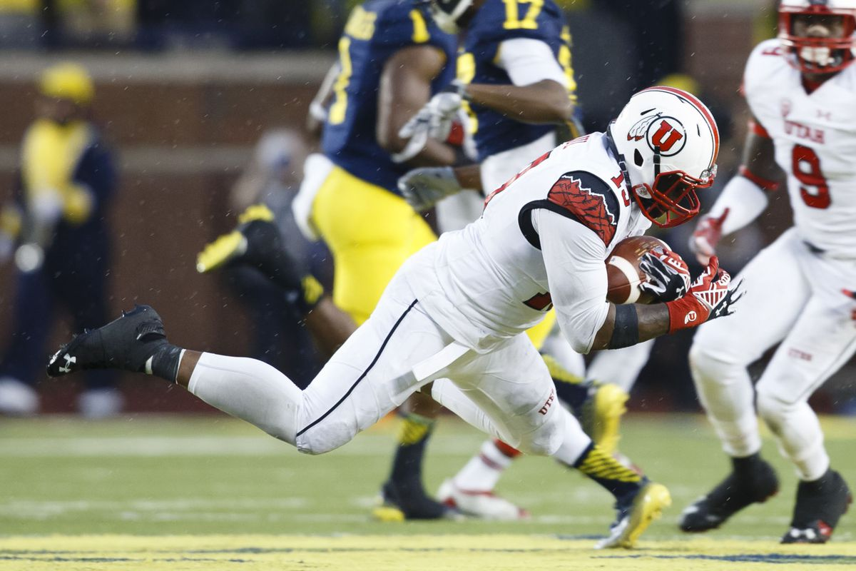 Utes linebacker Gionni Paul, playing in his first game in a Utah uniform, racked up the stats with a fumble recovery, an interception, and 14 tackles.