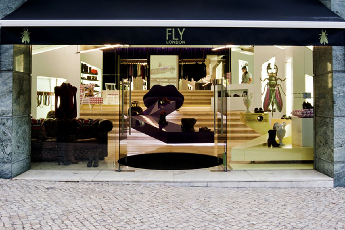 """The flagship store in Lisbon; Image via <a href=""""http://www.zootmagazine.com/2010/09/22/fly-london-shop-opens-at-avenida-liberdade-2/"""">Zoot Magazine</a>"""