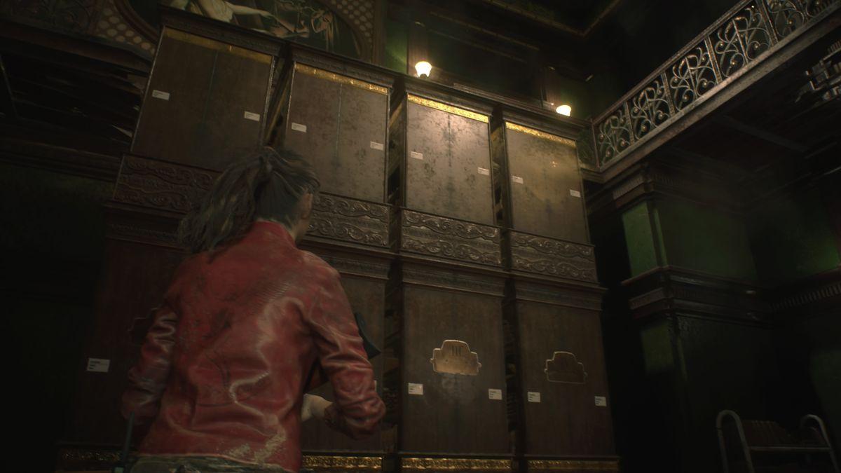 Resident Evil 2 Library Jack bookcases