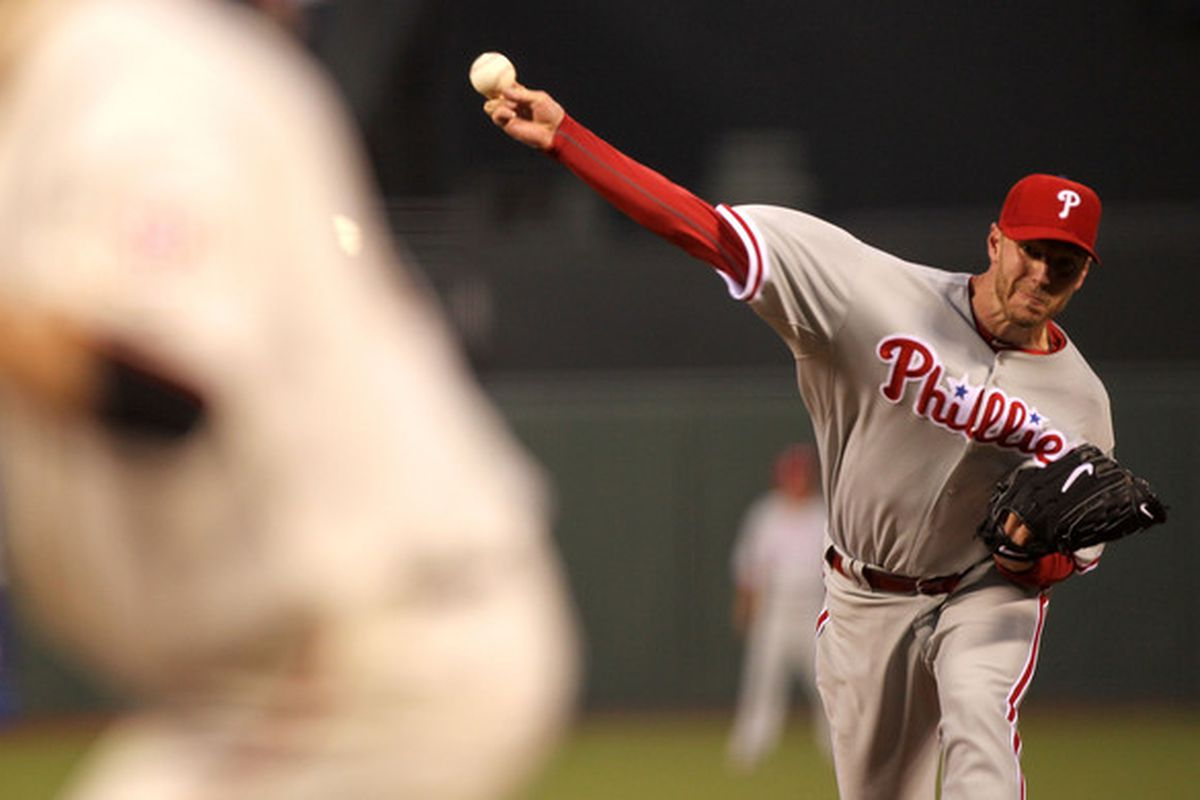 With Roy Halladay, all things are possible.  (Photo by Jed Jacobsohn/Getty Images)