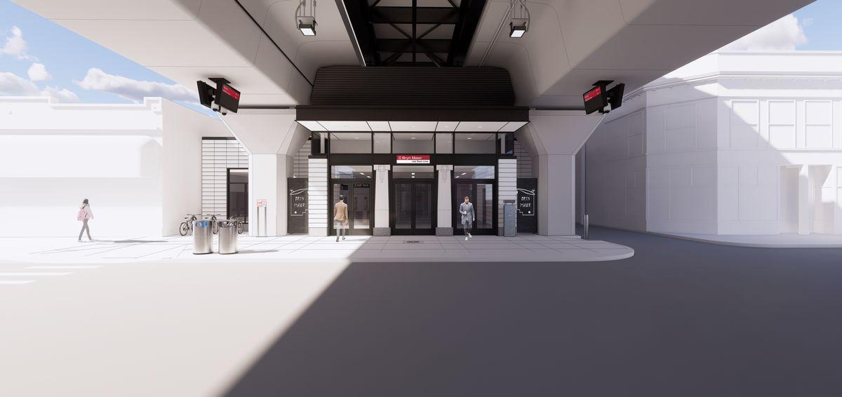 New Bryn Mawr Station design