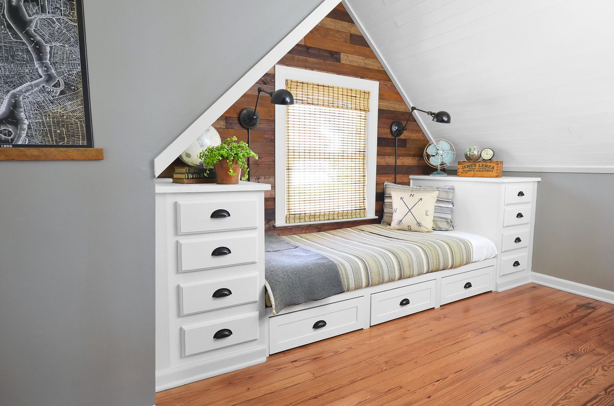 <p><strong>After:</strong> The new built-in makes the most of a natural alcove and feels in keeping with the Craftsman style of the house.<br><strong><em>$0</em></strong><em> scrap-wood wall paneling</em><br><strong><em>$125</em></strong><em> per prefab kitchen cabinet</em><br><strong><em>$25</em></strong><em> light fixture</em></p>