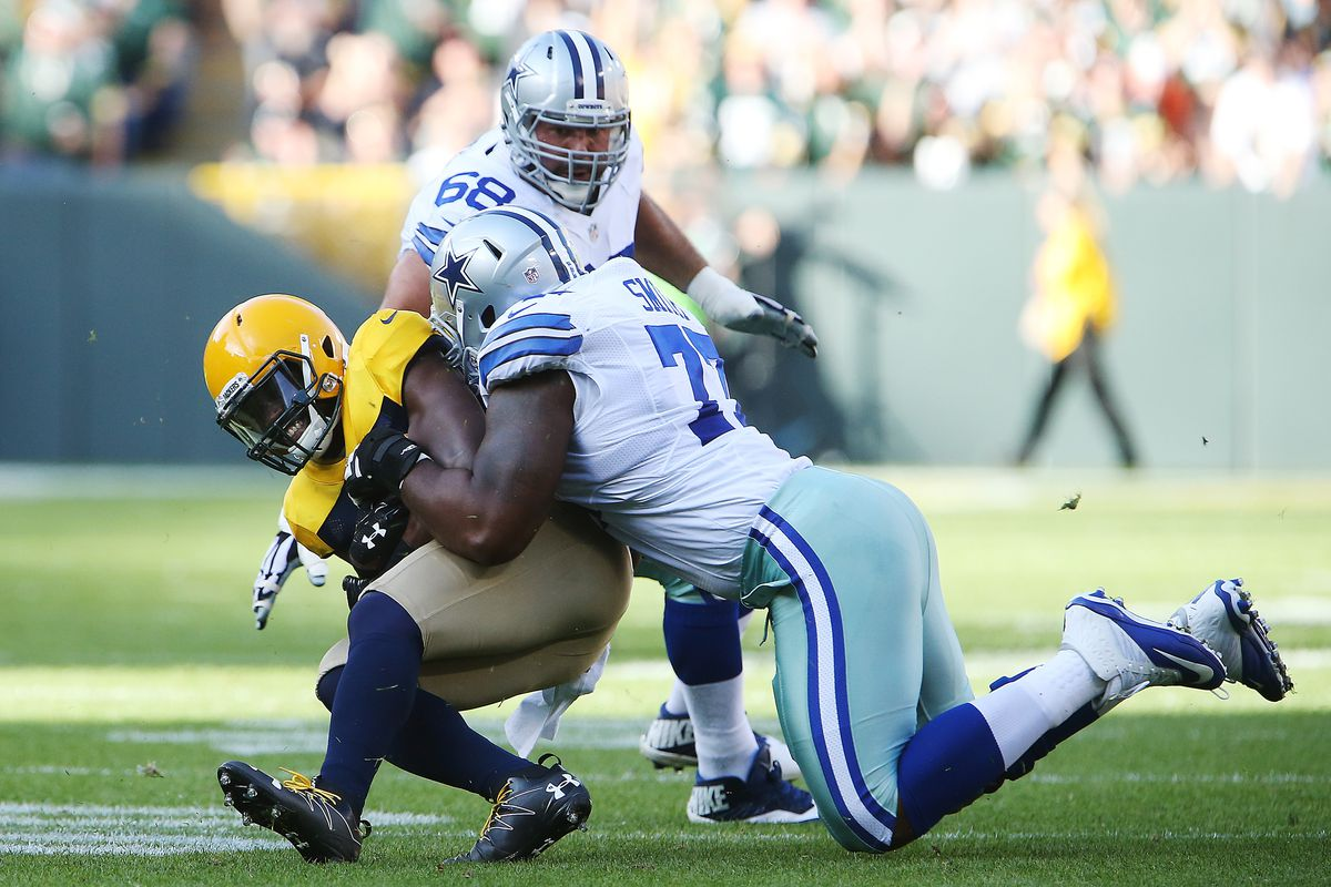 Cowboys left tackle Tyron Smith is out Sunday against the Falcons