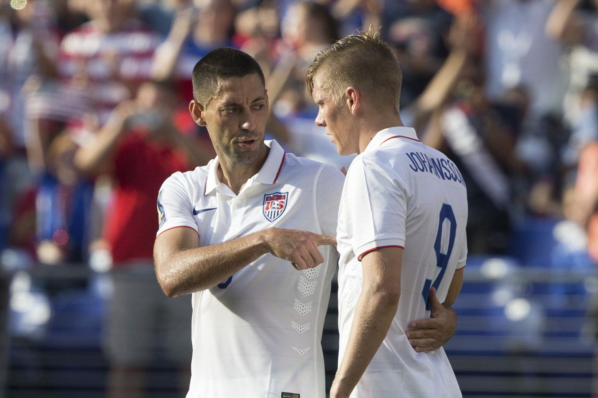 Dempsey looks to have taken the young striker Johannsson under his wing